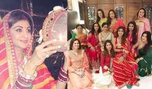 Pics: श्रीदेवी, और रवीना टंडन इस तरह मनाया करवा चौथ, शिल्पा शेट्टी ने आईफोन में चांद देखकर खोला व्रत