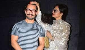 'सीक्रेट सुपरस्टार' की स्क्रीनिंग में पहुंचे कई सितारे, रेखा ने आमिर को दिया आशीर्वाद