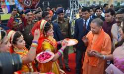 Yogi-Adityanath-Holi-celebration-in-Mathura-and-Barsana- IndiaTV Paisa
