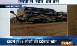 Madhya Pradesh: Bus-truck collision kills 11, injures more than 20 in Guna- IndiaTV Paisa