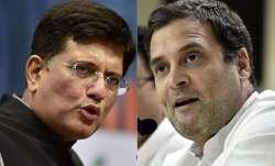 Piyush Goel and Rahul Gandhi | PTI- IndiaTV Paisa