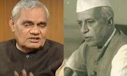 Atal Bihari Vajpayee and Jawahar Lal Nehru | PTI- IndiaTV Paisa
