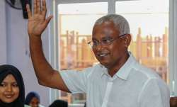Opposition leader Ibrahim Mohamed Solih tells supporters he won Maldives election | AP- IndiaTV Paisa