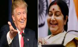 <p>donald trump and sushma...- IndiaTV Paisa