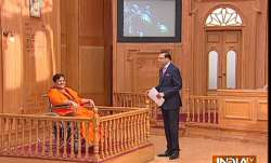 Sadhvi Pragya in Aap Ki Adalat LIVE Updates: Malegaon blast accused Sadhvi Pragya Singh Thakur in ra- India TV Paisa