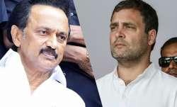 DMK president M K Stalin and Congress president Rahul...- India TV Paisa