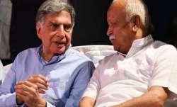 Ratan Tata meets RSS chief Mohan Bhagwat in Nagpur- India TV Paisa