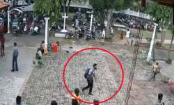 CCTV footage of suspected suicide bomber walking into St Sebastian church on Easter Sunday- India TV Paisa