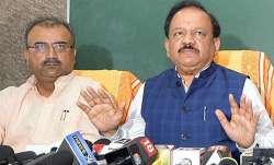 Bihar Health Minister Mangal Pandey with Union Health Minister Harsh Vardhan   ANI File- India TV Paisa