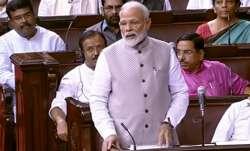 राज्यसभा में प्रधानमंत्री नरेंद्र मोदी।- India TV Paisa