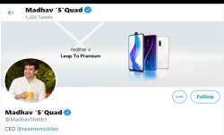 Does Realme CEO's name change on Twitter hint at a new device?- India TV