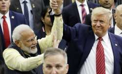 PM Narendra Modi and US President Donald Trump at 'Howdy, Modi' event | AP- India TV Paisa