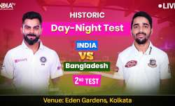 India vs Ban day night test live cricket score match update fromeden garden stadium from kolkata on - India TV Paisa