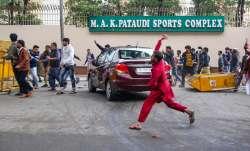 Students of Jamia Millia Islamia University stage a...- India TV Paisa