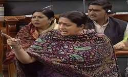 Smriti Irani targets Rahul Gandhi in Lok Sabha for his Rape in India Statement- India TV Paisa