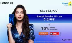 HONOR 9X with special price offer 12,999 Rs on 19th January on Flipkart- India TV Paisa