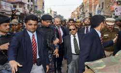 National Security Advisor (NSA) Ajit Doval during his visit to the riot affected areas to assess gro- India TV Paisa