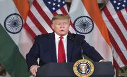 US President Donald Trump speaks during an interaction in New Delhi- India TV Paisa