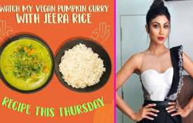 Shilpa Shetty vegan pumpkin curry Rice jeera recipe- Khabar IndiaTV