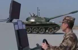 China is testing unmanned tanks which could be equipped with artificial intelligence | CCTV Video Gr- Khabar IndiaTV