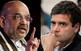 Amit Shah and Rahul Gandhi | PTI Photos- Khabar IndiaTV