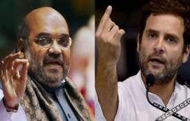 Amit Shah and Rahul gandhi- Khabar IndiaTV
