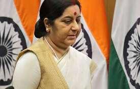 <p>Sushma Swaraj meets Mongolian PM...- Khabar IndiaTV