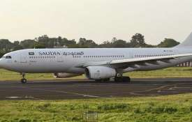 Saudi Arab Airlines plane emergency landing 53...- Khabar IndiaTV