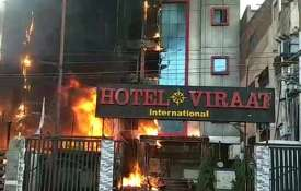 fire breaks out at hotel viraat international in...- Khabar IndiaTV