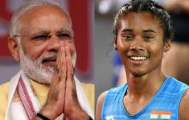 PM Narendra Modi is 'extremely moved' with this gesture of Hima Das   PTI- Khabar IndiaTV