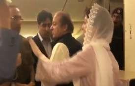 Watch how Ex-PM Nawaz Sharif and daughter arrested on return to Pakistan   ANI- Khabar IndiaTV