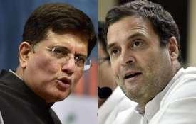 Piyush Goel and Rahul Gandhi | PTI- Khabar IndiaTV