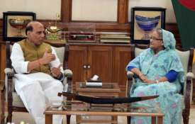 Rajnath Singh says meeting with Sheikh Hasina 'extremely fruitful' | Twitter- Khabar IndiaTV