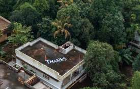 'Thanks' is written on the roof of a building to...- Khabar IndiaTV