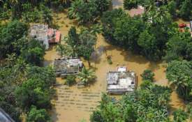 A view of the flood affected areas, in Kochi- Khabar IndiaTV