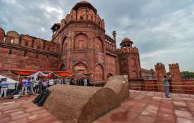 Red Fort during full dress rehearsal for the 72nd...- Khabar IndiaTV