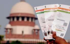 आधार की वैधता पर आज फैसला सुनाएगा सुप्रीम कोर्ट- India TV