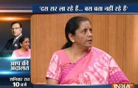 Nirmala Sitharaman in Aap ki Adalat: 'Rafale deal finalised in accordance with IAF's requirements- India TV