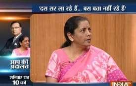 Nirmala Sitharaman in Aap ki Adalat: 'Rafale deal finalised in accordance with IAF's requirements- India TV