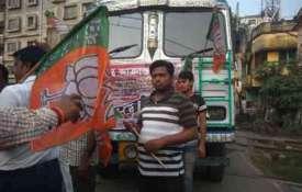 बीजेपी का बंगाल बंद आज, बसों में तोड़फोड़, रोकी गई ट्रेनें- India TV