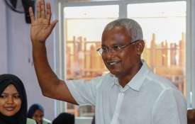 Opposition leader Ibrahim Mohamed Solih tells supporters he won Maldives election | AP- India TV