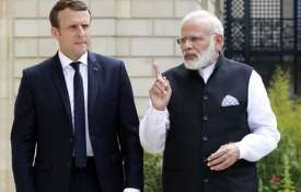 Indian Prime Minister Narendra Modi with French...- India TV