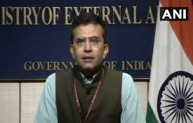 <p>MEA spokesperson Raveesh...- India TV