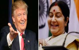 donald trump and sushma...- India TV