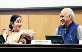 Not aware of any meeting between Sushma Swaraj and MJ Akbar, says MEA - India TV