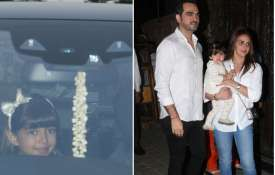 Aaradhya Bachchan, Esha Deol with her family- India TV
