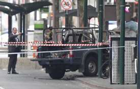 A burnt out vehicle is seen on Bourke Street in Melbourne, Friday, Nov. 9, 2018 | AP Photo- India TV Paisa