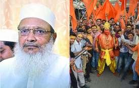 AIMPLB general secretary Maulana Wali Rahmani and Vishwa Hindu Parishad activist in Mirzapur | PTI- India TV