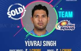 IPL 2019 Auction: आखिर बिक गए युवराज सिंह, जानिए किस टीम ने खरीदा- India TV