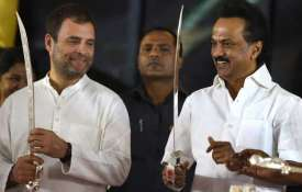 Congress President Rahul Gandhi and DMK...- India TV